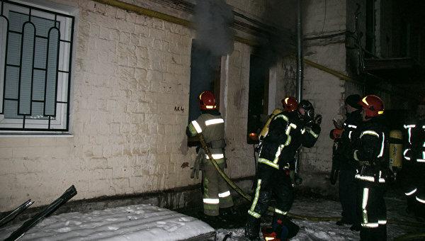Пожар в Шевченковском районе Киева