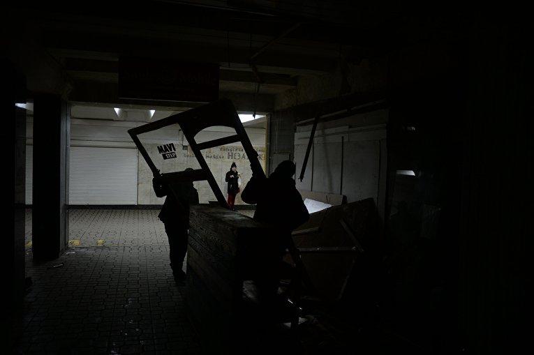 Снос торговых точек в переходе на Майдане Незалежности