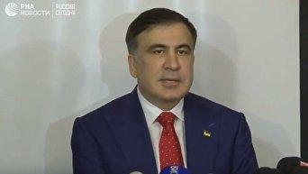 Пресс-конференция Михаила Саакашвили в Польше
