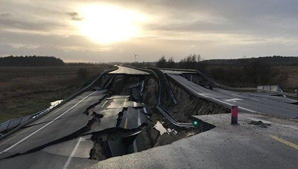В Германии провалился автобан