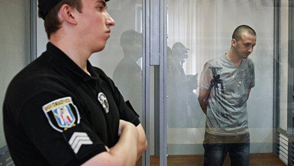 Заседание по делу российского военнослужащего Максима Одинцова в Киеве