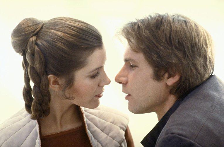 Звездные войны: Империя наносит ответный удар. Поцелуй Хана Соло и принцессы Леи