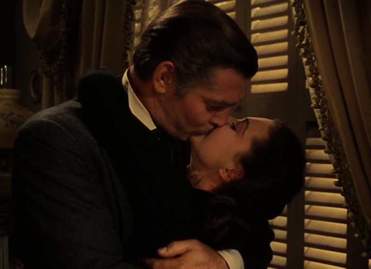 Унесенные ветром. Поцелуй Скарлетт О'Хары и Рета Баттлера