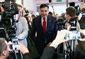 Пресс-конференция Михаила Саакашвили в Варшаве
