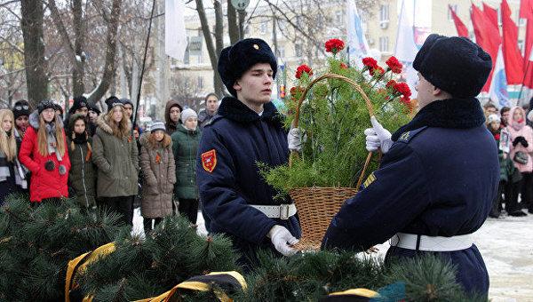Митинг в честь 75-й годовщины освобождения Луганска от немецко-фашистских захватчиков