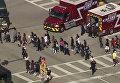 Учащиеся школы в городе Паркленд (Флорида), в которой произошла стрельба
