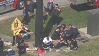 Стрельба во Флориде. Видео