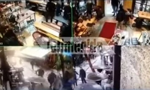 Кадры нападения на россиян в Афинах