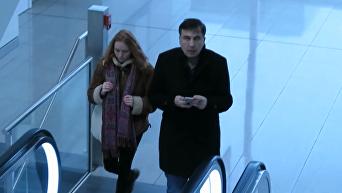 Саакашвили засняли в аэропорту Мюнхена. Видео