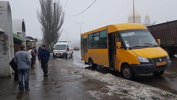 На месте инцидента, где в автобусе Бердянска умер мужчина