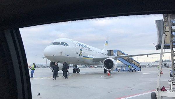 Президентский самолет Петра Порошенко прибыл в Мюнхен