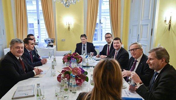 Встреча Порошенко и Юнкера в Мюнхене