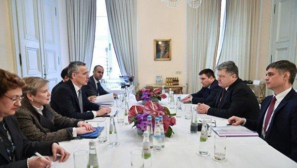 Встреча Петра Порошенко и Йенса Столтенберга в Мюнхене
