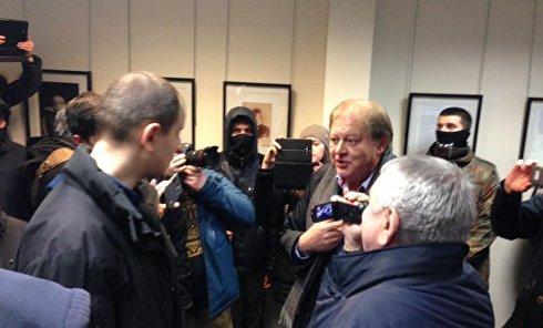 Нападение радикалов на офис Россотрудничества в Киеве