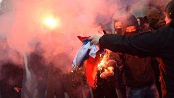 Погром в офисе Россотрудничества в Киеве