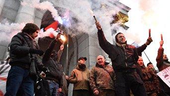 Антироссийская акция радикалов в Киеве