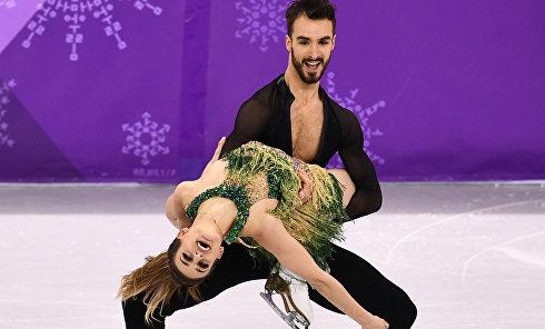 Французская фигуристка Габриэлла Пападакис оголила грудь во время выступления на Олимпиаде