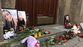 Акция из-за смерти студентки Национального медицинского университета имени Богомольца Мукаддас Насырлаевой