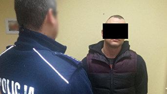 Задержанный за нападение на украинца в Польше