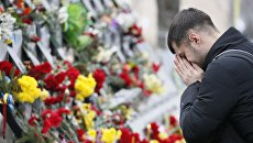 В центре Киева устроили тихую акцию в честь погибших майдановцев