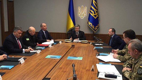 Заседание военного комитета во главе с Петром Порошенко, 20 февраля 2018