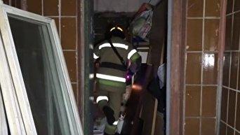 Взрыв мусоропровода в киевской многоэтажке. Видео
