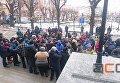 Протест продавцов мяса в центре Черновцов