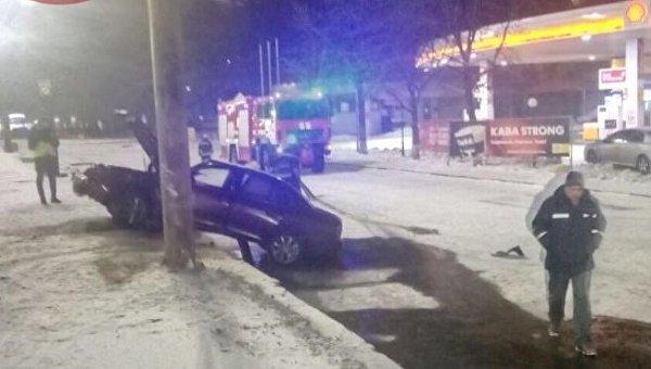 ДТП с возгоранием в Киеве