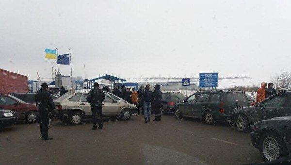 Блокирование КПП Рава-Руская на границе с Польшей
