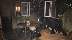 Последствия пожара в редакции интернет-портала Четвертая власть в Ровно