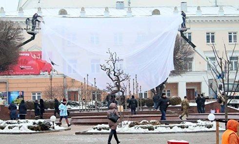 """Памятник """"Дерево свободы"""", установленный в Виннице на месте бюста Шевченко"""