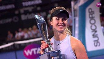 Элина Свитолина победила на турнире в ОАЭ
