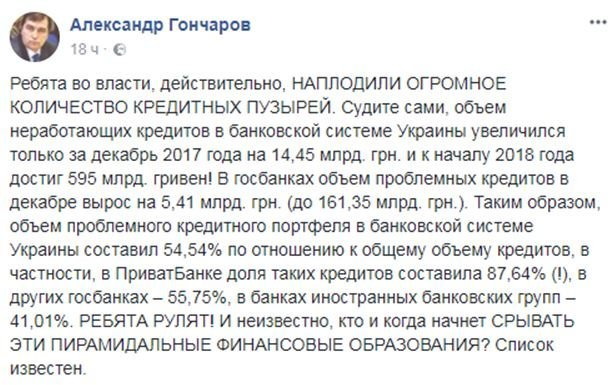 Доля токсичных кредитов в банках Украины превышает 60%