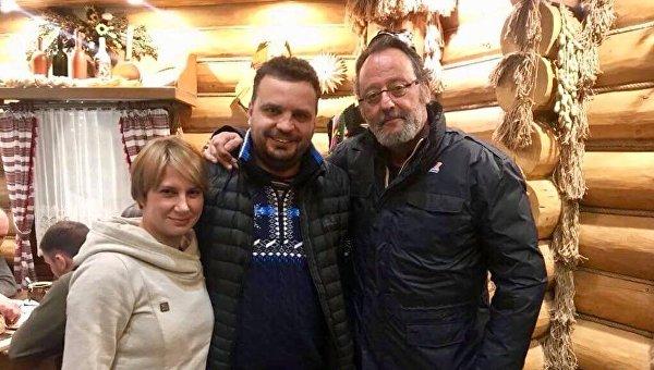 Французский актер Жан Рено приехал на съемки в Украину