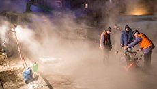 Прорыв трубы в Харькове
