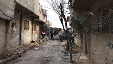 Лагерь беженцев Вафидин в районе гуманитарного коридора между Дамаском и Восточной Гутой в Сирии