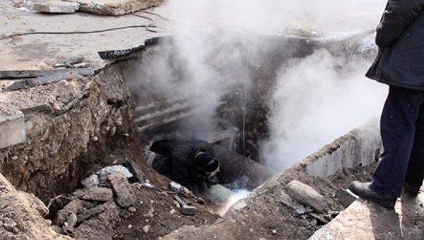 Авария на теплосети в Харькове