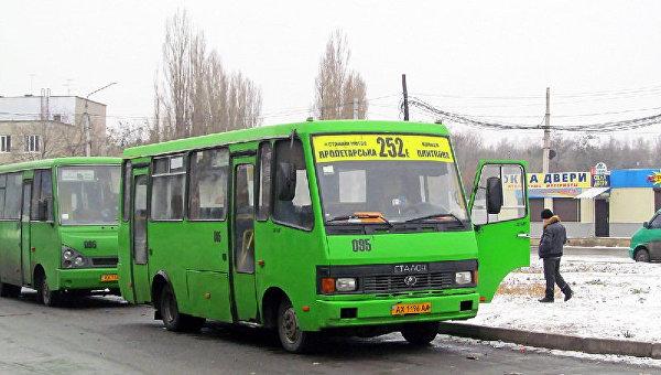 Харьковские маршрутки. Архивное фото