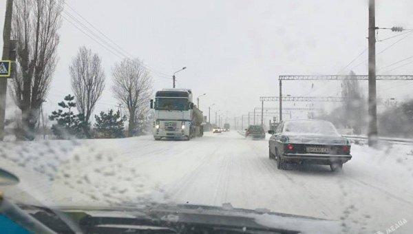 Ситуация на дороге в Одессе