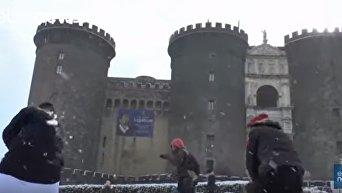 Как европейцы радуются снегу