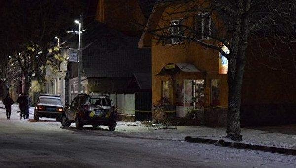 Полиция на месте ЧП в Берегово