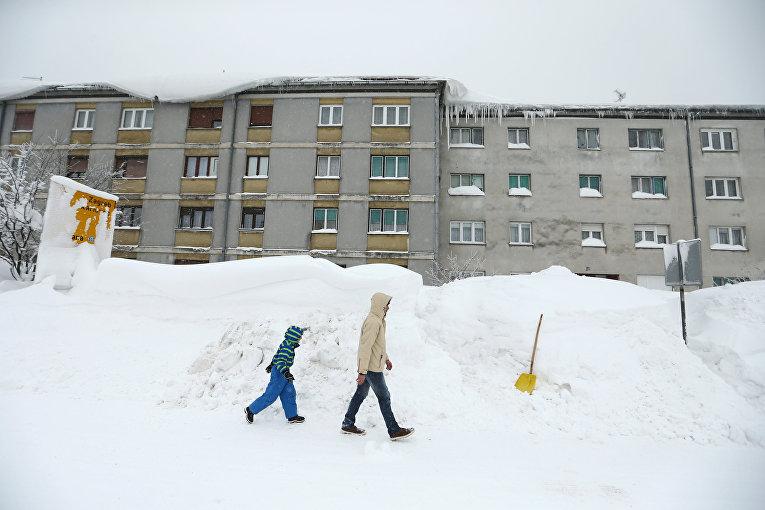 Снегопад в Хорватии