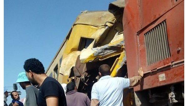 В результате столкновения двух поездов в Египте погибли 19 человек