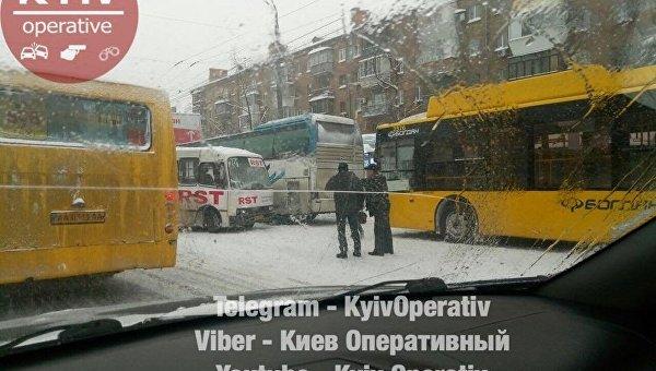 ДТП в Киеве в сторону Житомирской трассы