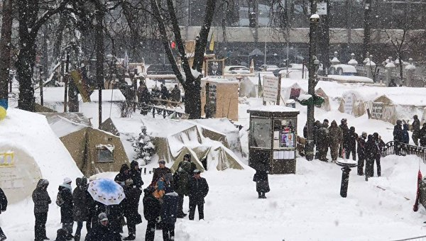 Палаточный городок перед Верховной Радой 1 марта 2018 года