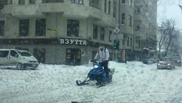 Снегопад в Харькове