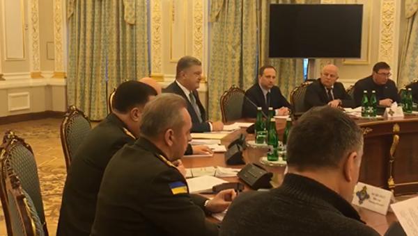 Заседание СНБО во главе с Петром Порошенко