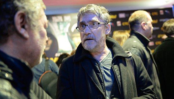 Актер Валерий Гаркалин на премьере фильма Неуловимые в Москве.