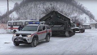 Последствия снегопада в Донбассе