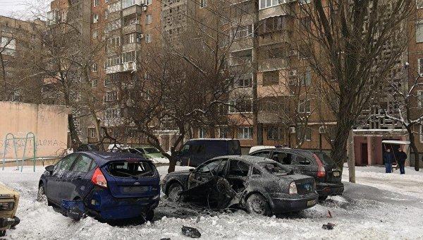 Вглобальной web-сети появились первые кадры сместа взрыва вцентре Донецка